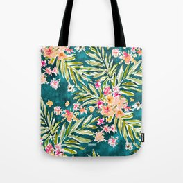 NUEVO VALLARTA Tropical Floral Tote Bag