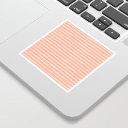 Sweet Life Thin Stripes Peach Coral Pink Sticker