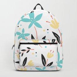 Garden Gate Flowers Motif Backpack