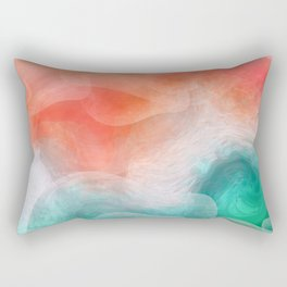 """Coral sand beach and tropical turquoise sea"" Rectangular Pillow"