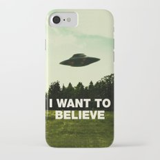 UFO, I Want To Believe iPhone 7 Slim Case