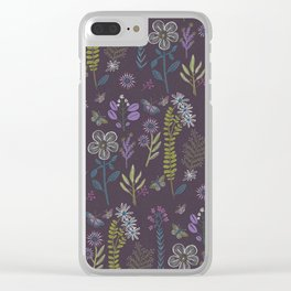 Medieval Botanial Clear iPhone Case