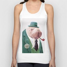 Walrus Green Unisex Tank Top
