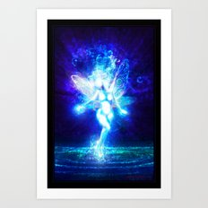 A water fairy in the moonlight... Art Print