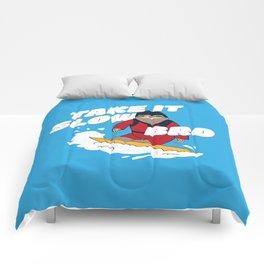 Take it Slow Bro - Funny Snowboarding Sloth Comforters