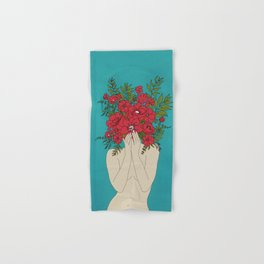 Blooming Red Hand & Bath Towel