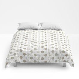 Dancing Grey Circles by Deirdre J Designs Comforters