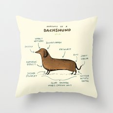 Anatomy of a Dachshund Throw Pillow