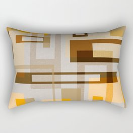 Mid Century Modern Blocks on Sand Rectangular Pillow