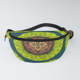 Artsy Summer Neon Yellow Lace Sunflower Fanny Pack