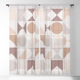 Modern Geometric 26 Sheer Curtain