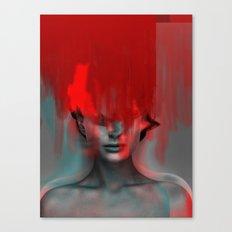 Red Head Woman Canvas Print