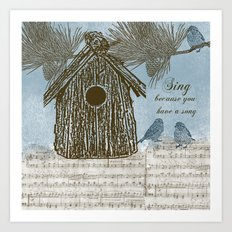 Bird Song Art Print
