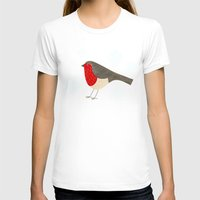 robin T-shirts featuring Robin by Nic Squirrell