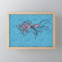 PINK FISH Framed Mini Art Print