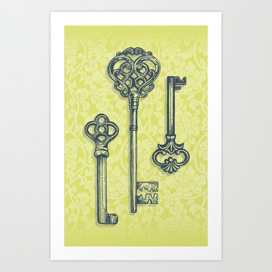 Three Skeleton Keys Art Print