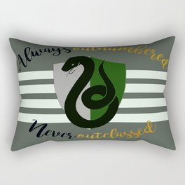Slytherin Always Outnumbered, Never Outclassed Rectangular Pillow