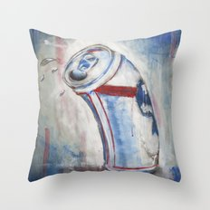Beer Can Throw Pillow