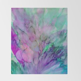 ALCOHOL INK Cvb Throw Blanket