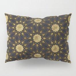 Islamic decorative pattern with golden artistic texture Pillow Sham