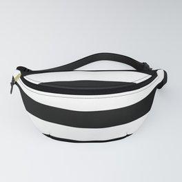 Stripe Black & White Horizontal Fanny Pack