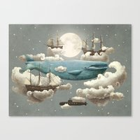 a lot of cats Canvas Prints featuring Ocean Meets Sky by Terry Fan
