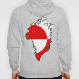 Greenland Map with Flag Hoody
