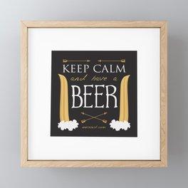 Have A Beer Framed Mini Art Print