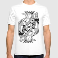 Creativity Is King MEDIUM Mens Fitted Tee White