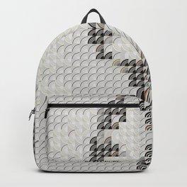 Hedgehog geometric pattern portrait of Audrey Hepburn 03 Backpack