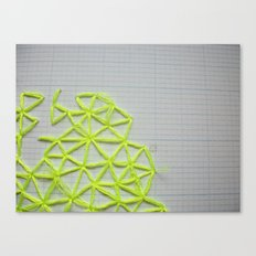 Neon Geometric 2 Canvas Print
