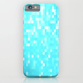 turquoise Pixel Sparkle iPhone Case