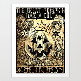 Cult of the Great Pumpkin: Sun, Moon and Angels Art Print
