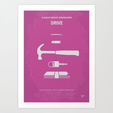 No258 My DRIVE minimal movie poster Art Print
