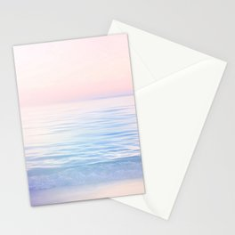 Dreamy Pastel Seascape 2. Blue & Nude #pastelvibes #Society6 Stationery Cards
