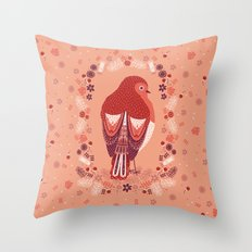 Petite Robin Red Breast Throw Pillow
