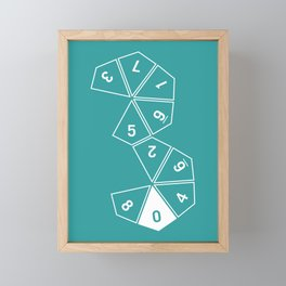 Teal Unrolled D10 Framed Mini Art Print
