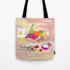Still Life Fruit with Plastic Bag Tote Bag