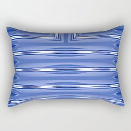 Art Deco Blue Spear Pattern Rectangular Pillow