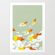 Flight of the rockets Art Print