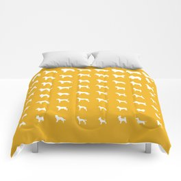 All Dogs (Gold) Comforters