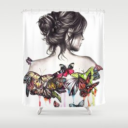 Butterfly Woman Shower Curtain
