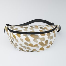 Imperfect brush strokes - ochre and brown Fanny Pack