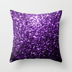 Beautiful Purple glitter sparkles Throw Pillow
