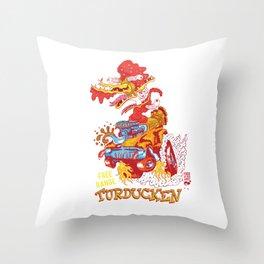 Free range turducken Throw Pillow