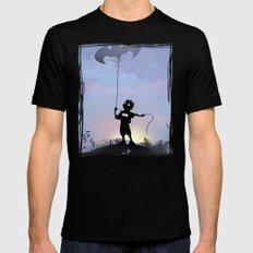 Bat Kid Black Mens Fitted Tee 2X-LARGE