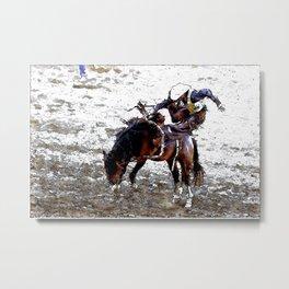 The Dismount   -   Rodeo Cowboy Metal Print