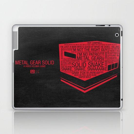 Metal Gear Solid Typography Laptop & iPad Skin