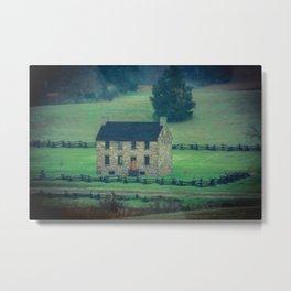 The Stone House Tilt Shift Manassas Battlefield Park Civil War Historic House Metal Print