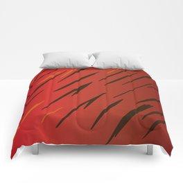 Blue design lines zig-zag Comforters